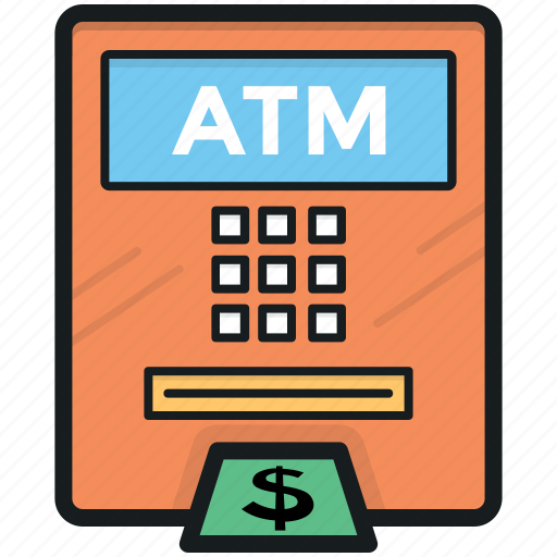 atm, atm withdrawal, cash withdrawal, dollar, transaction icon