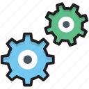 cogs, cogwheel, gear, options, settings