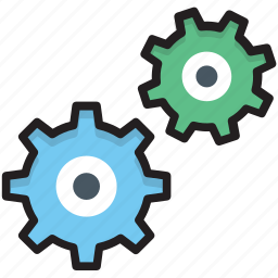 cogs, cogwheel, gear, options, settings icon
