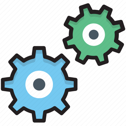 cogs, cogwheel, gear, options, settings icon