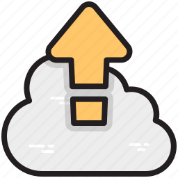 cloud computing, cloud upload, data storage, file storage, upload to cloud icon