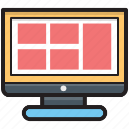 monitor, responsive web, web design, web layout, website template icon