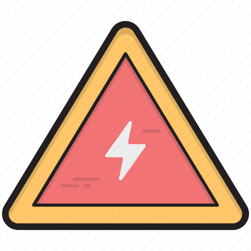 danger, electricity risk, high voltage, voltage warning, warning sign icon