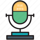 audio, mic, microphone, music, radio mic icon