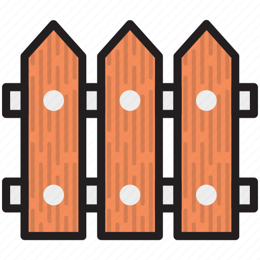 fence, fence panels, garden fence, picket fence, plank fence icon