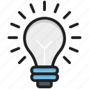 bulb, creativity, idea, innovation, lightbulb icon