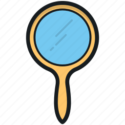 hand mirror, handheld mirror, makeup mirror, mirror, vanity hand mirror icon