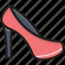 heel sandals, heel shoes, high heel, pump heel shoes, women shoes icon