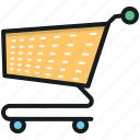 ecommerce, online shopping, shopping, shopping cart, shopping trolley icon
