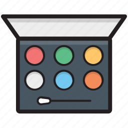 cosmetics, eye shades, eyeshadow kit, eyeshadows, makeup icon