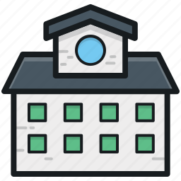 architecture, building, college building, real estate, school building icon