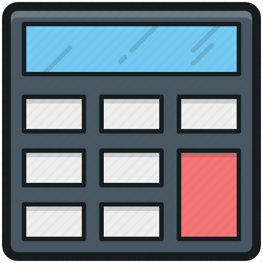 accounting, calculating, calculating device, calculator, mathematics icon