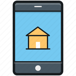mobile, mobile phone, online property, online real estate, property app icon