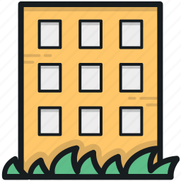 hotel, hotel building, inn, lodge, luxury hotel icon