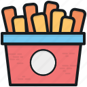 french fries, french fries box, fries box, frites, potato fries icon