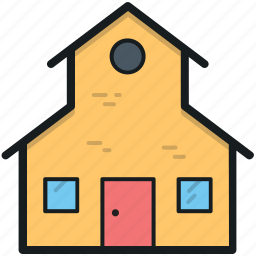 cottage, home, hut, lodge, rural house icon