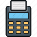 billing machine, billing printer, card swiper, invoice machine, receipt machine icon