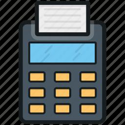 billing machine, billing printer, card swiper, invoice machine, receipt machine icon