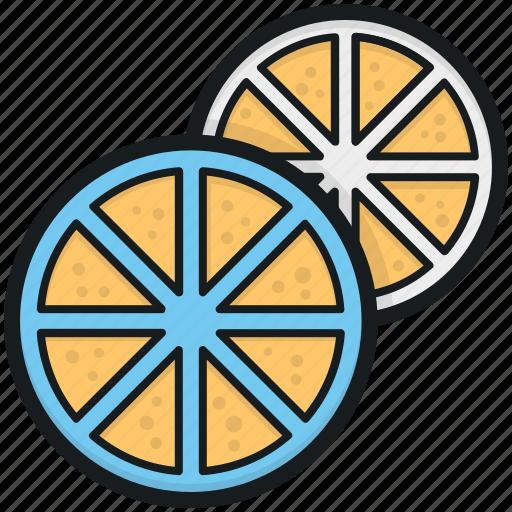 citrus fruit, food, fruit, half orange, orange slice icon