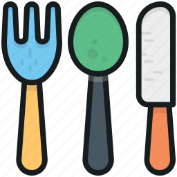 cutlery, fork, knife, spoon, utensils icon
