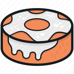 bakery food, confectionery, dessert, donut, sweet snack icon