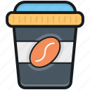 coffee, coffee cup, disposable cup, paper cup, take away coffee icon
