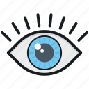 eye, human eye, look, view, visibility icon