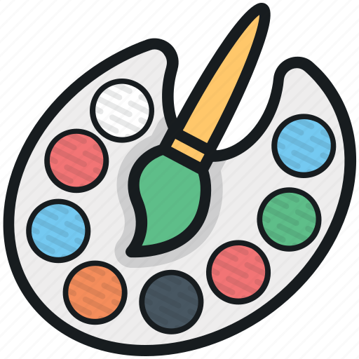 artist, paint brush, paint palette, painter, painting icon