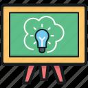 blackboard, easel, science class, science presentation, whiteboard icon