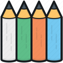 color pencils, crayons, pencils, pencils pack, writing icon