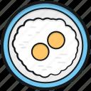 breakfast, cooked egg, dairy food, egg, fried egg