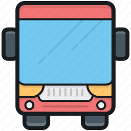 autobus, bus, school bus, transport, vehicle icon