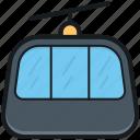 aerial lift, aerial tramway, detachable, ropeway, ski lift icon