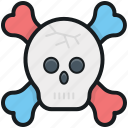 be aware, bones, danger, skeleton, skull icon