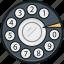 phone dialer, retro phone, rotary dial, telephone, telephone dialer icon