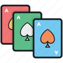 casino, gambling, playing cards, poker cards, spade cards icon