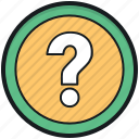 faq, help, query, question mark, questionnaire icon