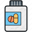 drugs, medication, medicine bottle, medicine jar, pills icon