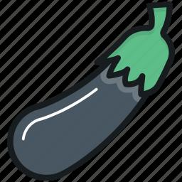 aubergine, brinjal, eggplant, food, vegetable icon