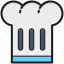 chef hat, chef revival, chef toque, chef uniform, cook hat icon