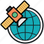 broadcasting satellite, globe, satellite, satellite transmission, space satellite icon