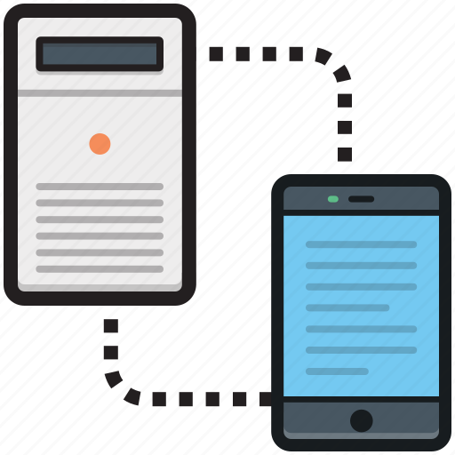 data exchanging, data sharing, data transfer, mainframe, servers icon