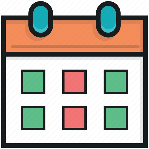 calendar, date, day, daybook, wall calendar icon