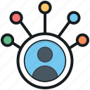 community manager, connected users, networking, social community, social network icon