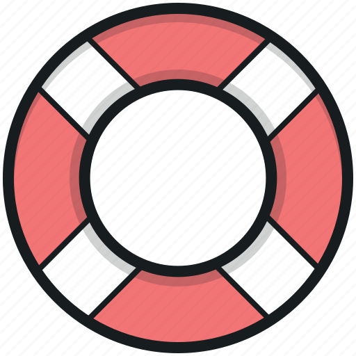 life belt, life buoy, life ring, ring buoy, safety equipment icon