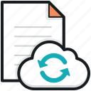 cloud computing, e docs sync, file reload, file sync, sky docs icon