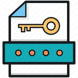 data security, document security, private file, protected file, secure file icon