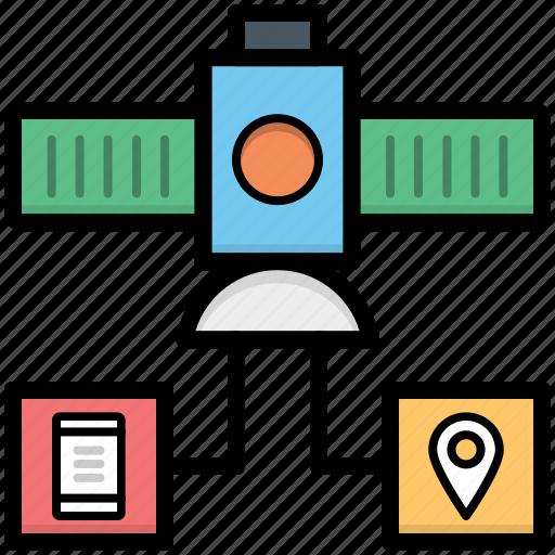 broadcasting, communication satellite, radar, satellite, space satellite icon