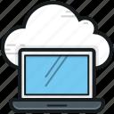 cloud computing, cloud connection, cloud drive, laptop, storage cloud