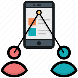 communication, mobile developers, mobile ui, mobile users, mobile ux icon